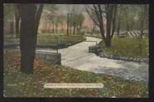 1916 POSTCARD CANTON OH WATER WORKS PARK PLAYGROUND & STREAM
