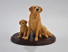 Border Fine Arts Golden Retriever & Pup Original Rare Sculpture 1995 EEGG LTD