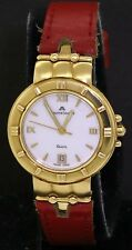 Maurice Lacroix 18K gold high fashion quartz ladies watch w/ date & red band