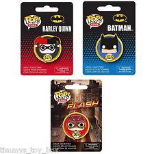 Set of 3: Funko POP! Pins DC Comics - Batman, Harley Quinn & Flash