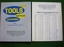 1972 Bartlett Tools Supplies Equipment for Technicians & Craftsman w  Price List