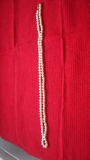 """Vintage White Pearl Strand 30"""" Gold Clasp 6mm"""
