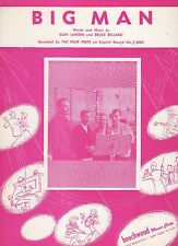 Four Preps Big Man (red cover)  US Sheet Music