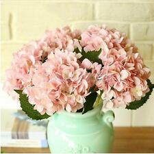 Artificial Hydrangea Fake Peony Silk Plant Flower Home Wedding Bouquet Pink