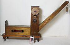 VINTAGE grandi in legno giocattolo Gru Folk Art HAND MADE