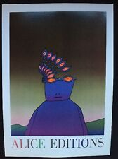 Folon - Alice Editions 1974 Poster Pop Art Authentic Reproduction