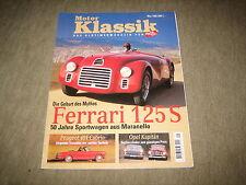 Motor Klassik Magazin 5/1996, Ferrari 125, Opel Kapitän, Peugeot 404 Cabrio,