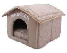 Indoor Dog House Kennel Plush Warm Portable Pet Bed Washable Small Puppy Cat