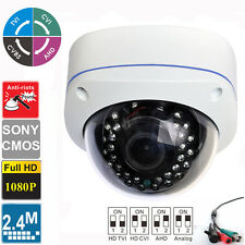 AHD 1080P 2.4MP Sony CMOS Vandal Proof  Varifocal 2.8-12mm Dome camera 4 in 1