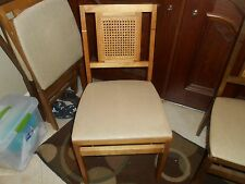 VINTAGE SET OF FOUR STAKMORE  MID CENTURY FOLDING CHAIRS