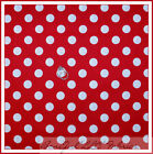 BonEful Fabric FQ Cotton Quilt Disney Red White Polka Dot Miss Minnie Mouse Girl