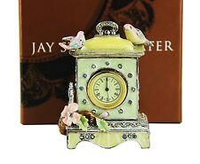 JAY STRONGWATER SONGBIRD PASTEL CLOCK SWAROVSKI NEW ORIGINAL BOX MADE IN USA # 2