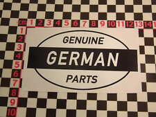 Ed Roth Style German Genuine Parts Sticker - Beetle Vee Dub Van VW Karmann Ghia