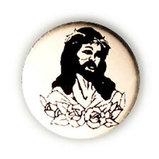 Badge TATTOO JESÚS Negro/Blanco Cristo culte tattoo latino rockabilly pins Ø25mm