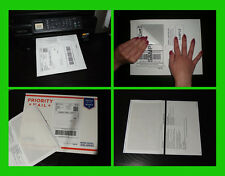 500 PAYPAL EBAY SHIPPING LABELS w/ Half Page Paper RECEIPT Inkjet/Laser Printer