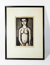 GEORGES ROUAULT (FRANCE 1871-1958) FILLE NUE / NUDE GIRL 1928 SIGNED B&W ETCHING