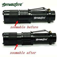 Super Bright CREE XML T6 Tactical Zoomable 5000 Lumen LED Flashlight Torch Light