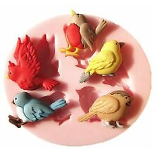 Sparrow Bird Silicone Fondant Cake Mold Chocolate Mould Kitchen Baking Tools NEW