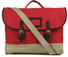 Fred Perry Mens Cotton Satchel Blood Red RRP£90 messenger bag