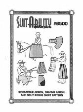 HORSE RIDING SUITABILITY  SET  SIDE SADDLE SKIRTS APRONS SEWING  PATTERNS 6500