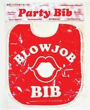 Bachelorette Party Blow Job Bib - Fun Bridal Shower Funny Gag Gift