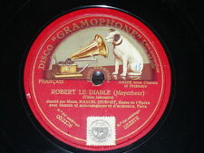 OPERA 78 rpm RECORD Gramophone BASS MARCEL JOURNET Robert le Diable MEYERBEER