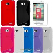 Funda para LG Optimus L90 D405 D405N + 2 Protector Gel S-LINE /  Elige color