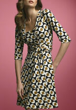 DVF Diane von Furstenberg 100% Silk Jersey Wrap Dress Dutch Pockets Size 10 NWOT