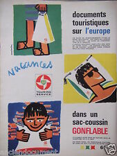 PUBLICITÉ 1962 BP TOURING SERVICE SAC COUSSIN GONFLABLE -CONSTANTIN -ADVERTISING