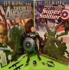 "Marvel Legends CAPTAIN AMERICA Secret Avengers + ""GREAT COVERS"" + Extra Weapons"