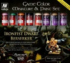 Acrylic Vallejo BNIB Game Color Avatar Set (Figure & Brush) Ironfist Dwarf 72211