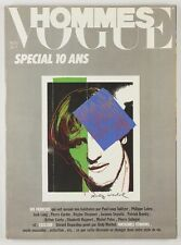 ANDY WARHOL signed litho print VOGUE HOMMES MAGAZINE Gerard Depardieu PARIS Rare