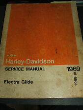 1959-1969 Harley-Davidson Electra Glide motorcycle service manual book