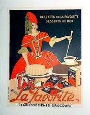 "Vintage French Lithograph ""Dessert"" Poster on Linen"