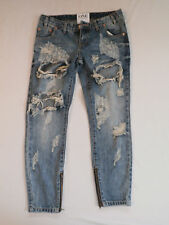 One Teaspoon Women's Brave Freebird Jeans Blue Size 26 NWT