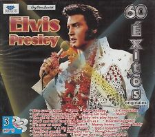 Elvis Presley 60 Exitos Originales 3CD Box set New Nuevo Sealed