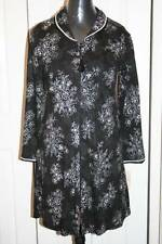 Women's VILLAGER Black and White Floral Robe-Size Small-NEW With Tags