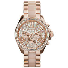 Michael Kors Ladies' Wren Pavé Acetate & Rose Gold-Tone Designer Watch MK6096