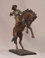 Beautiful Antique Bergman Cold Painted Vienna Bronze Bronco Buster