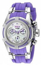 New Womens Invicta 18685 Bolt Reserve Zeus Purple Rubber Strap Watch