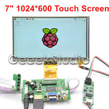 "7"" inch LCD DIY Monitor for Raspberry Pi HDMI+VGA+2AV Driver Board+ Touch Screen"