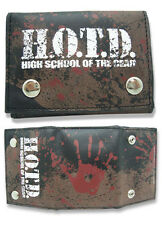High School of the Dead Hand Print Wallet Anime Manga MINT