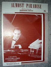 1957 ALMOST PARADISE Vintage Sheet Music ROGER WILLIAMS by Norman Petty