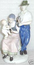 Vintage Color German Porcelain Figurine Carl Scheidig GDR Family Happiness 8834