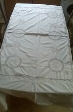 Vintage style tablecloth floral embroidered w crochet detail . Large 160 x 210cm