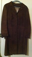 Womens vintage brown suede coat size M