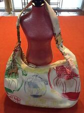 LeSportsac Large Gwen Stefani LAMB Retired Sold Out Hella Hobo Purse Bag White