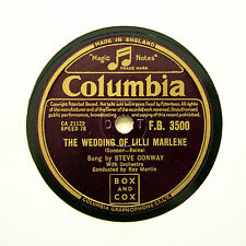 "STEVE CONWAY ""The Wedding Of Lilli Marlene"" (E+) COLUMBIA FB-3500 [78 RPM]"