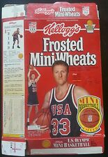 1992 Larry Bird Frosted Mini Wheats Cereal Box - USA Dream Team