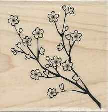 """Cherry Blossoms"" Rubber Stamp by Stampabilities"